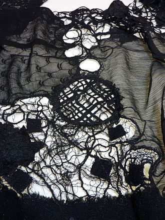Detail - Black Lace wrap
